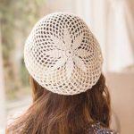 This crochet lace beret is stunning. I love the giant motif. Crochet So  Lovely: Crochet Beret