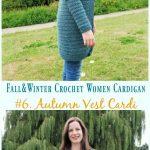 Herbst Weste Strickjacke häkeln kostenlose Muster - Herbst & Winter Frauen # Cardigan; Kostenlos .