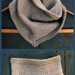 Bandana Cowl Free Knitting Pattern Häkeln Ideen, Häkeln Muster, Schal Muster,  Handarbeit,