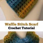 Crochet Waffle Stitch Cowl - Pretty Ideas Diy Häkeln, Stricken Und Häkeln,  Kleidung Häkeln