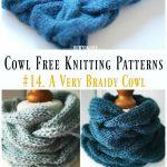 Eine sehr Braidy Cowl Free Knitting Pattern – Cowl Free # Knitting Muster |  Stricken und Häkeln | Pinterest | Knitting, Knitting patterns and Knitting