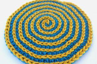 Kreisrunden Spiral Untersetzer häkeln
