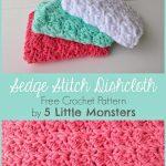 5 Little Monsters: My Favorite Dishcloths: Sedge Stitch Dishcloth Kuchen  Häkeln, Waschlappen,