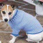 Crochet dog sweater--free pattern Hund Häkeln, Alte Jeans, Handarbeit,  Häkeln