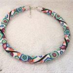Bunten geometrischen Sechsecke Muster Perle häkeln Halskette