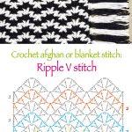 Ripple V stitch pattern or chart :)
