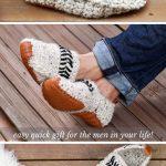 Häkeln Sie Hausschuhe für Erwachsene mit Ledersohlen - Free Pattern!  #erwachsene #hakeln #