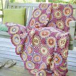 Gratisanleitung: Wunderschöne Decke aus runden Grannymotiven Für das Plaid häkeln  Sie zunächst je 20 einzelne