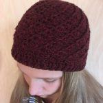 Häkeln Sie Burgund Mütze, gehäkelter Hut, Mädchen gehäkelte Mütze, Weben Sie  Handarbeit häkeln Mütze