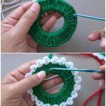 Häkeln Sie Weihnachtskränze Ornament #häkeln #Socken stricken #stricken  #strickeni .