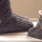 Frau Slipper Stiefel häkeln Muster, klassische Schneeschuhe, US-Größen  5-12, No  - Häkelideen
