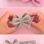 Häkeln Sie einfach Schmetterlingsbogen Stirnband, #einfach #hair #hakeln  #schmetterlingsbogen #stirnband