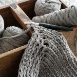 DIY | gehäkelter Teppich aus Textilgarn