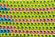 Gewebebeschaffenheits-Häkelstiche Stockbild - Bild von farbe,  selbstgemacht: 53825225