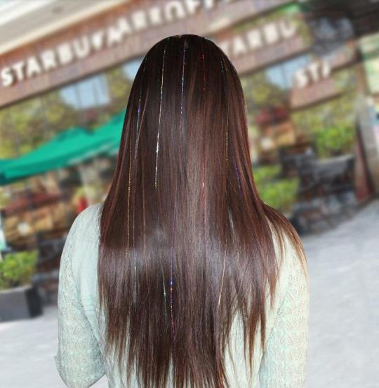 Hair Lametta für harmloses Haar-Styling