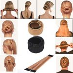 Coolster Damen Haarstyling DIY Tool Donut Hair Bun Maker & Fashion Haare  Dutt Styling Werkzeug Haarknoten