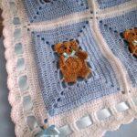 Häkeln Sie Muster afghanischen Decke Teddy-Bär von mariascrochet21