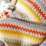 Baby afghanische Muster, leicht häkeln, Anfänger Muster, junge Decke