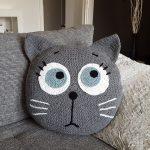 Kissen häkeln /// Katzenmotiv + Wow-Faktor