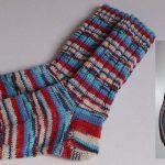 Selbstgestrickte Socken Gr. 38/39/ handgestrickte Strümpfe, Opal Regenwald  Neu