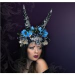 Blueberry Fantasy Headpiece, Swarovski® crystals Horns Headdress