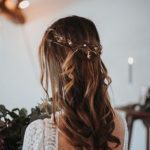 Braut Frisur lange Haare, Braut Frisur halboffen, Braut Frisur geflochten,  Brautfrisur lange Haare