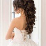 23 wunderschöne halbe Hochzeit Haar Ideen