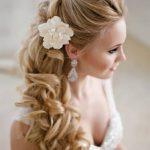 brautfrisur hochzeitsfrisur brautfrisuren halboffen #weddinghairstyles