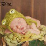 2019 häkeln stricken hut muster Neugeborenes Foto gestrickte Kawaii Baby  Mohair Hut grün Frosch Muster Baby