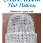 Häkeln Sie gerippt Hut Muster. Dies ist eine schnelle und einfache häkeln  gerippt .