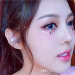 2018 Hot Sale Eye Makeup Stars Moon Sequin Patch Art Masquerade Fashion  Eyes Shadow Japan Style