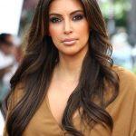 Kim Kardashian Long Hairstyles: Center-Parted Hairstyles