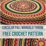 Circular Fall Mandala Throw u2013 Crochet Pattern   Afghan Crochet