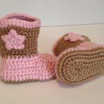 Großhandel Babyhäkelarbeit Schuhe Cowboystiefel Für Neugeborene