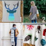 Free C2C (corner to corner) crochet patterns from Make and Do Crew  including blankets, afghans, a c2c sweater and nordic snowflake scarf.