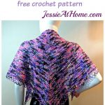 Loops and Ladders free #crochet shawl pattern from @jessie_athome