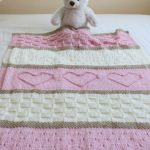 Baby Blanket Pattern, Knit Baby Blanket Pattern, Heart Baby Blanket