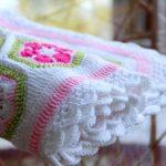 Babydecke häkeln - Decke Blumenmotiv häkeln u2026   Kinder   Pinteu2026