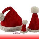 gratis Anleitung Mütze häkeln für Weihnachten