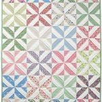 spring showers strip quilt kit, ruler, & free pdf pattern Decken,  Schnittmuster Kostenlos