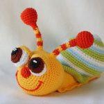 Pop-eyed snail crochet pattern | Stricken | Pinterest