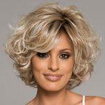 Hairtyles für kurze lockige Haare, lockiges Haar gewellte Perücke