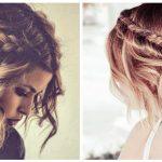 schnelle und einfache Frisuren für kurze Haare, stilvolle Boho kurze Haare
