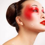 Frau mit schönen Make-up Fashion. Red Lips Bild mit hoher Qualität. Standard