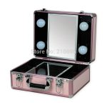 New Type Portable makeup case with lights light weight makeup box with  mirror 5 colours-in Cosmetic Bags & Cases from Luggage & Bags on  Traveller Location