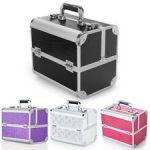 Luxury Extra Large Space Alu Beauty Make up Nail Cosmetic Box Storage Case  UK