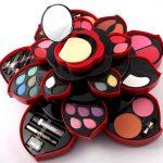 Rotating Color Palette Makeup Box Cosmetic Kit Beauty Tool Make Up  Eyeshadow Dish Make Up Plum Blossom Case Lipstick Eyeliner Set Free Makeup  Makeup Brush