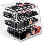 ORIGINAL BEAUTY BOX Acrylic Makeup Organizer Cosmetic Storage Drawers  Display Case 4 Drawers