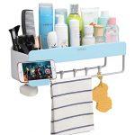 Adhesive Bathroom Shelf Storage Organizer Wall Mounted Floating Shelves  iHEBE Corner Suction Shower Shelf Organizers,