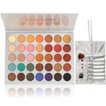 Beauty Glazed Eyeshadow Palette and Makeup Brushes, Matte Shimmer Eye  Shadow Pallete Waterproof Powder Natural